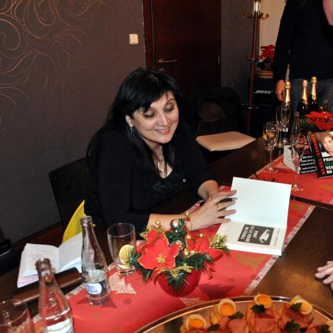 Klára Samková na autogramiádě v Brně 30. 11. 2016
