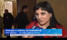 Klára Samková po konferenci na ČT24