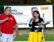 Pavel Havlíček a Klára Samková v Plzni