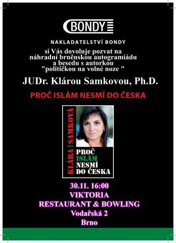 pozvánka autogramiáda Brno
