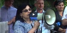 Klára Samková in front of Turkish Embassy
