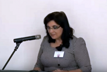 Klára Samková na konferenci IVČRN 25. 4. 2015