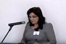 Klára Samková at the conference of IVČRN initiative (April 2015)