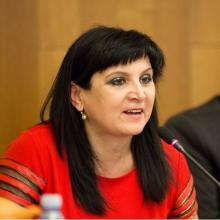 "Klára Samková at the conference ""Should We Fear Islam?"""